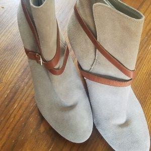 Loft tan suede boots